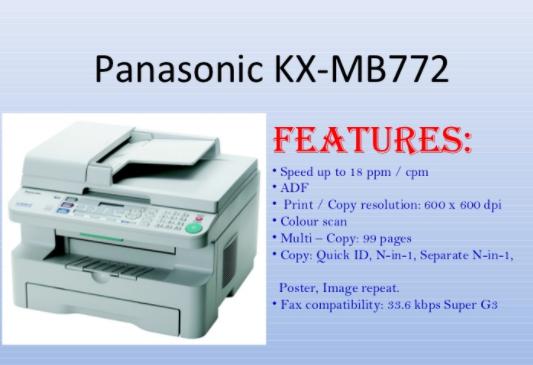 PANASONIC TÉLÉCHARGER KX-MB1900 IMPRIMANTE PILOTE
