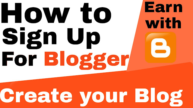 How to sign up for blogger and create a website.