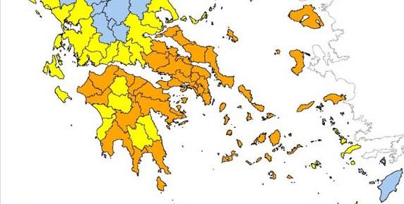 Σε κατάσταση συναγερμού την Τετάρτη 9/9 η Πελοπόννησος για φωτιές