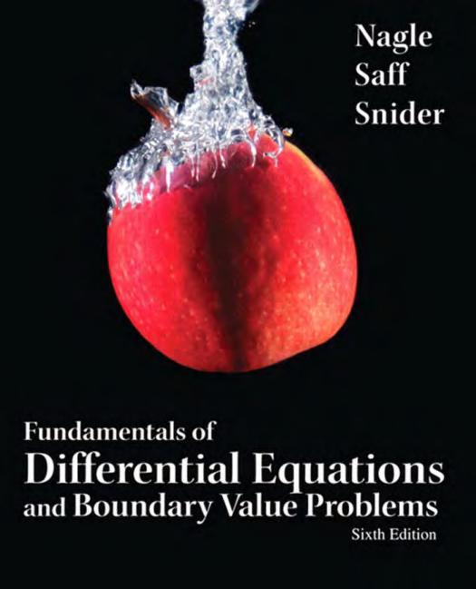 Fundamentals of Differential Equations and Boundary Value Problems Sixth Edition PDF Book Free Download