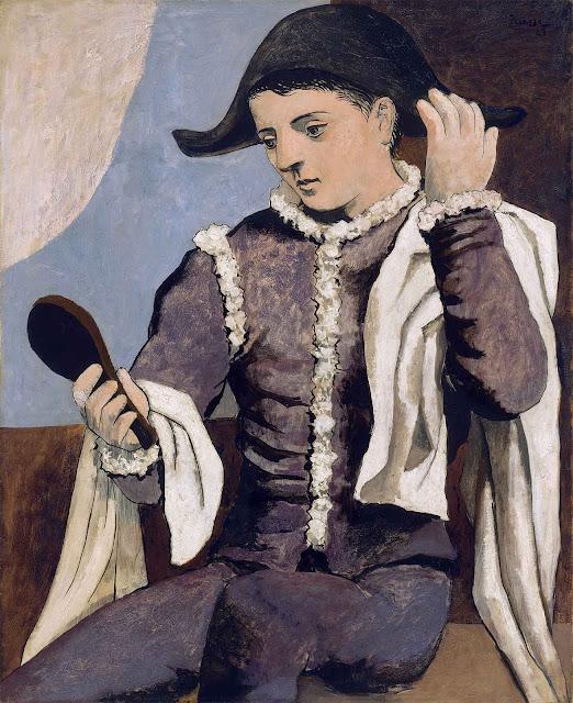 Picasso - Arlecchino con specchio (Arlequin au miroir)