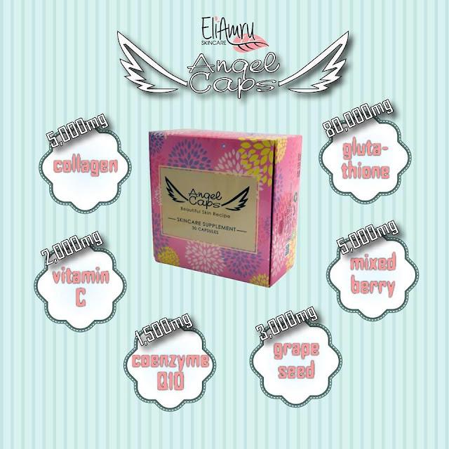 kandungan angel caps, produk kecantikan dari korea, kulit putih macam orang korea, kulit gebu, kulit cantik
