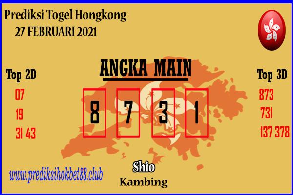 Bocoran Hongkong 27 Februari 2021