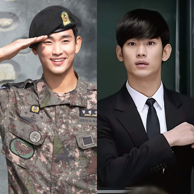 Kim Soo Hyun Military Discharged
