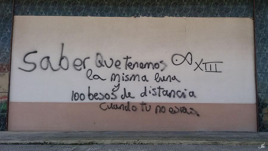 Palabras en una pared