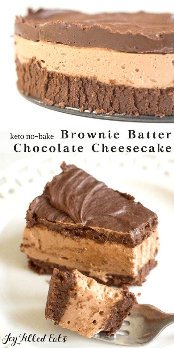 NO BAKE CHOCOLATE CHEESECAKE RECIPE – LOW CARB, KETO, GRAIN-FREE,