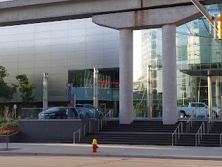 Subaru Crosstrek Hybrid Charging at GM World Headquarters