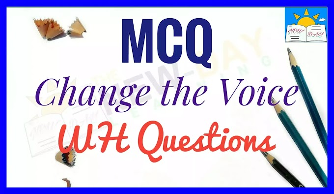 MCQ - Exercises on Change the Voice of WH Questions