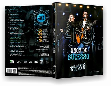GILBERTO & GILMAR 40 ANOS DE SUCESSOS DVD-R OFICIAL