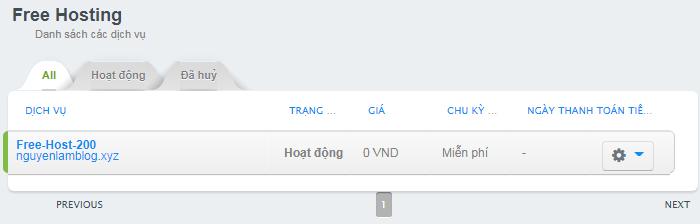 Danh sách hosting trên 123host