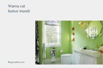 Warna Cat Kamar Mandi