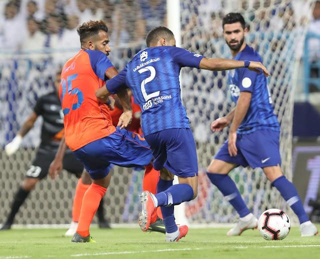 اهداف وملخص مباراه الهلال والفيحاء في الدوري السعودي اليوم السبت 14-9-2019