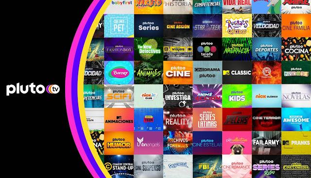 Pluto TV añade seis nuevos canales
