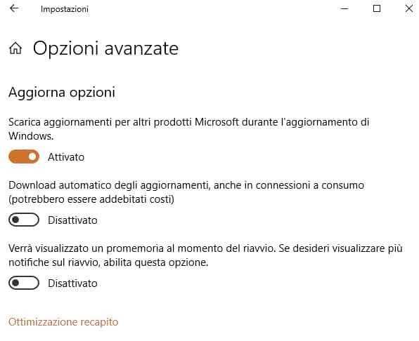 Scarica aggiornamenti per altri prodotti Microsoft durante l'aggornamento di Windows