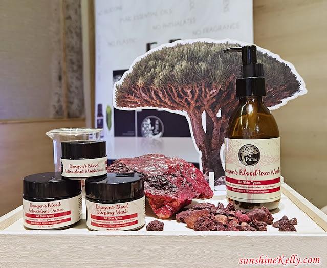 Puras, Dragon's Blood Antioxidant Skincare, Puras Essential Oil, Dragon's Blood, Puras Bangsar Village, Essential Oil Skincare, Beauty Review, Beauty