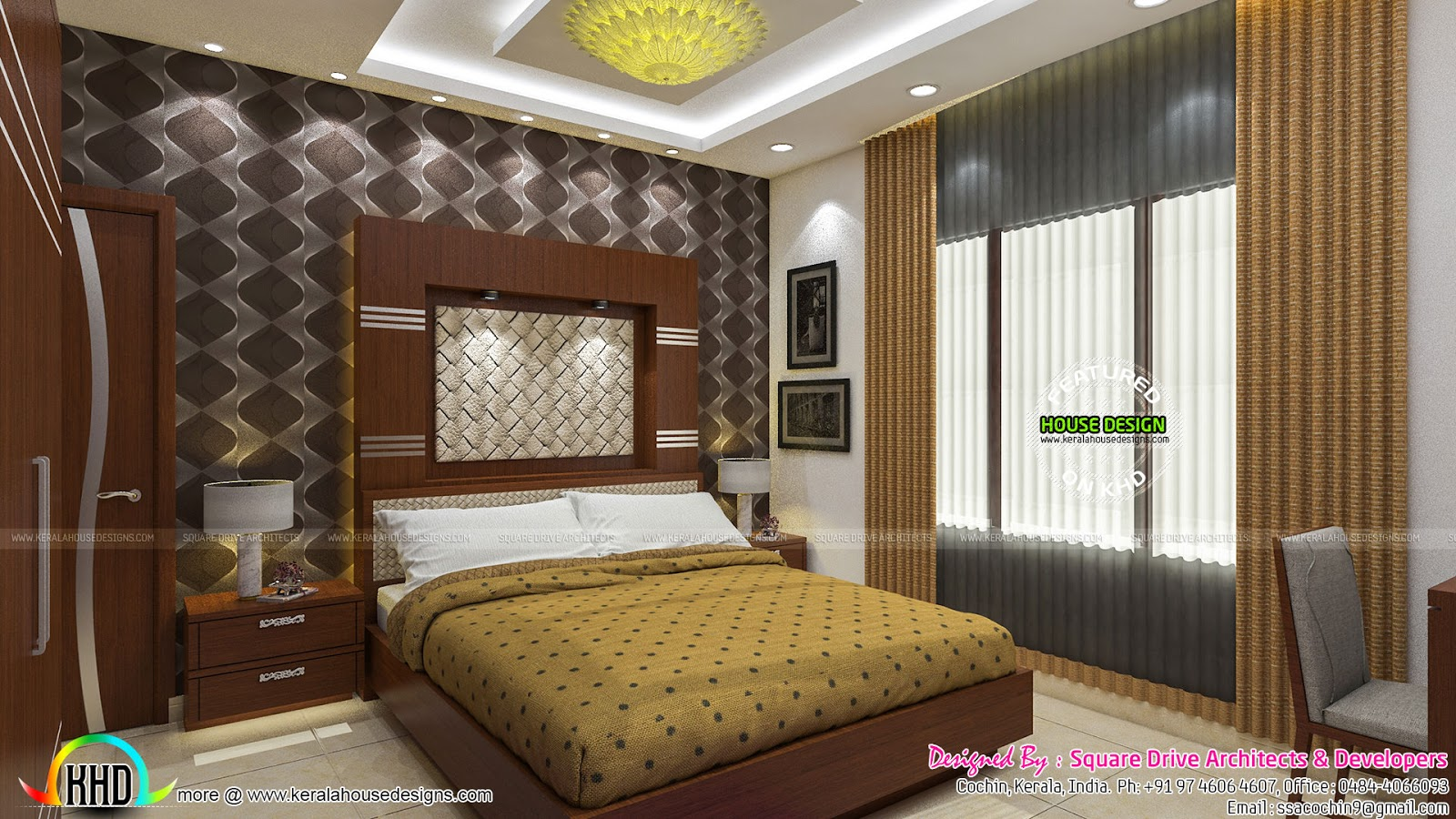 Beautiful Upper Bedroom And Master Bedroom Kerala Home Design And Floor Plans