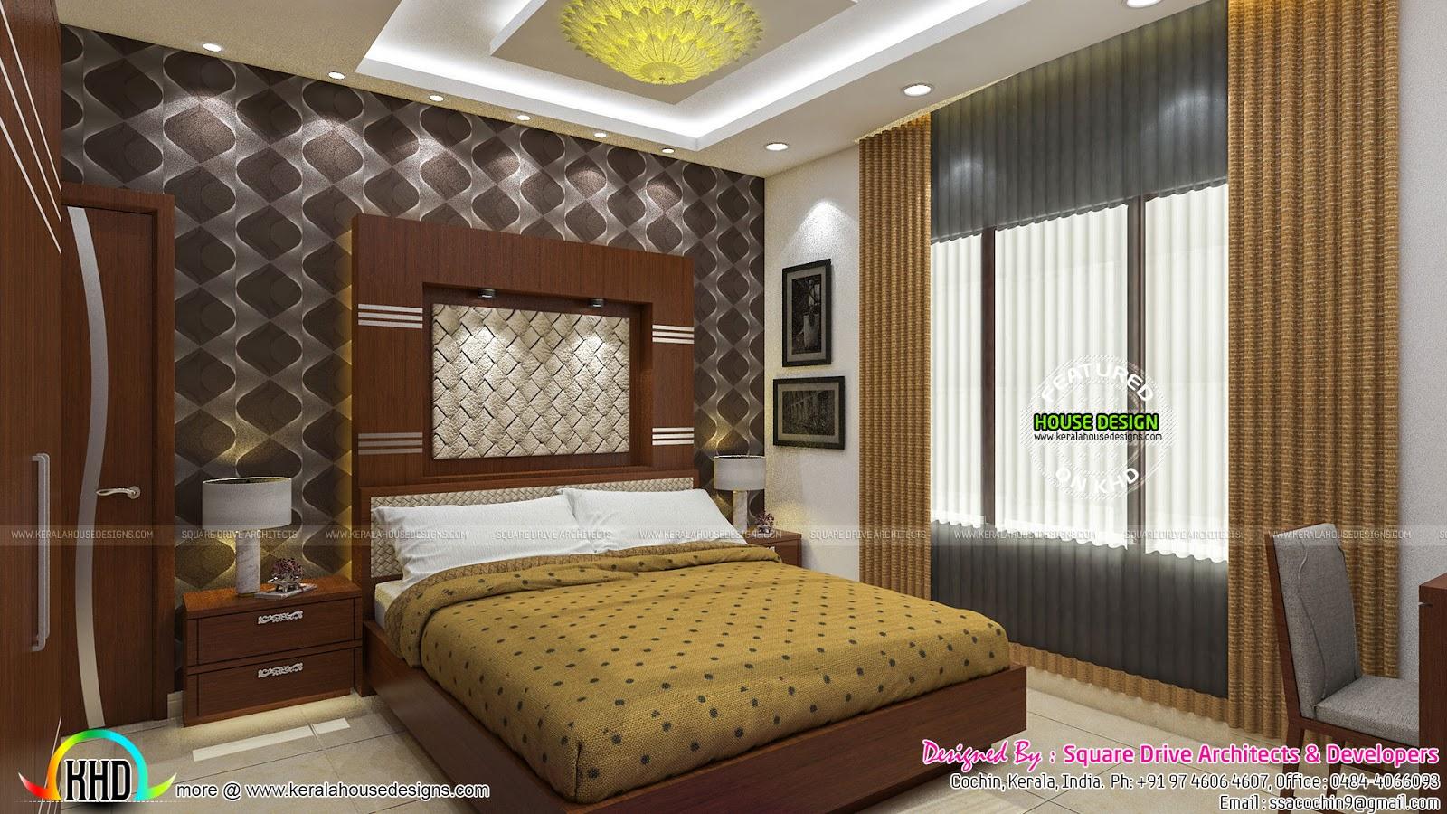 Beautiful upper bedroom and master bedroom  Kerala home