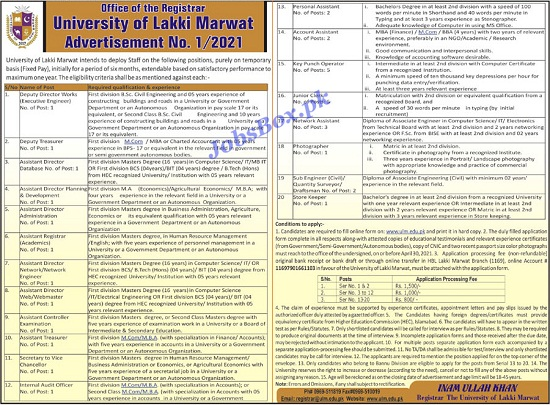 university-of-lakki-marwat-ulm-jobs-2021-apply-online