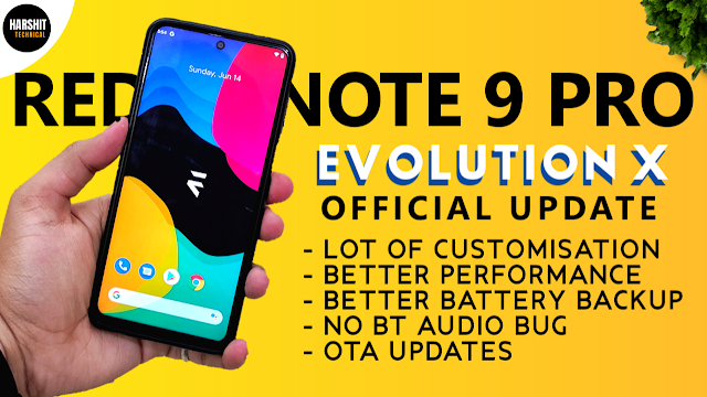 Download Evolution X ROM for Redmi Note 9 Pro(Curtana)