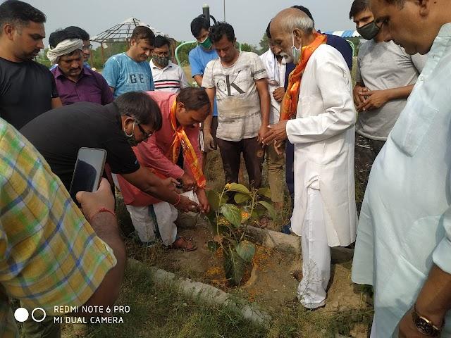 गांव सोतई IMT फरीदाबाद में श्री राम जानकी सेवा संगठन ने एक वृक्षारोपण कार्यक्रम का आयोजन किया