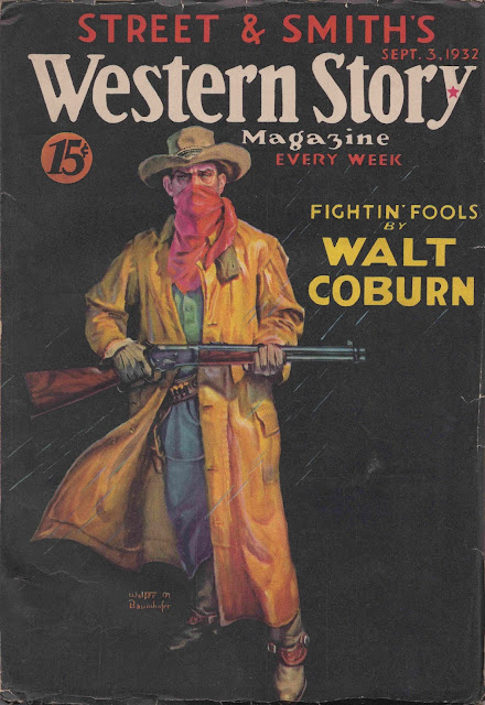 Western Story, September 3, 1932 cover by Walter M. Baumhofer