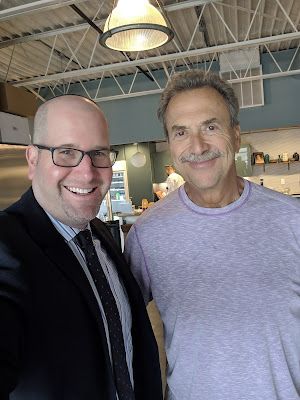 Jack Aronson of Garden Fresh Gourmet with Rabbi Jason Miller in Taylor, Michigan