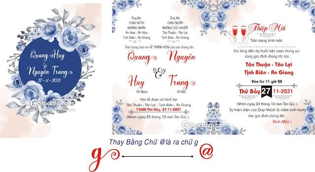 Chia sẻ mẫu thiệp cưới kèm fonts chữ wedding