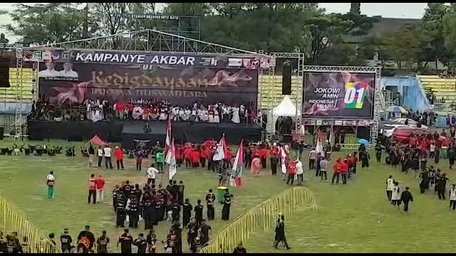 Kampanye Akbar Jokowi-Amin di Gelora Brantas Kota Batu Terlihat Sepi