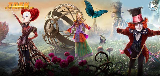 Alice Through The Looking Glass, ne tachinează cu o poveste extraordinară colorată şi plină de efecte speciale, în noul trailer complet al fanteziei vizuale.