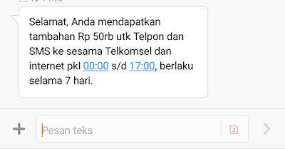 Telkomsel Bagi Pulsa Gratis 50.000, Begini Caranya