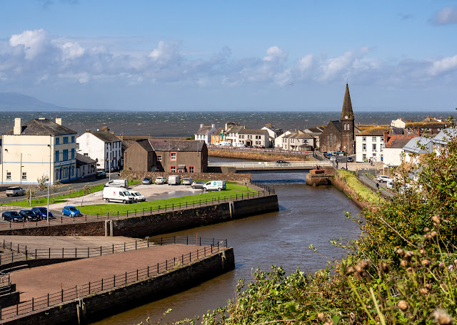 Photo of the River Ellen from Mote Hill, Maryport