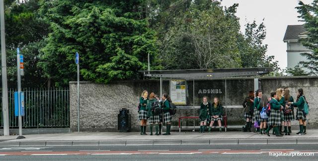 Parada de ônibus em Dublin, Irlanda