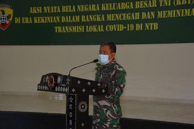 Korem 162/WB Gelar Komsos Keluarga Besar TNI