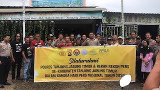 Kapolres Tanjabtim Silaturahmi Bersama Insan Pers Dalam Memperingati HPN Tahun 2020