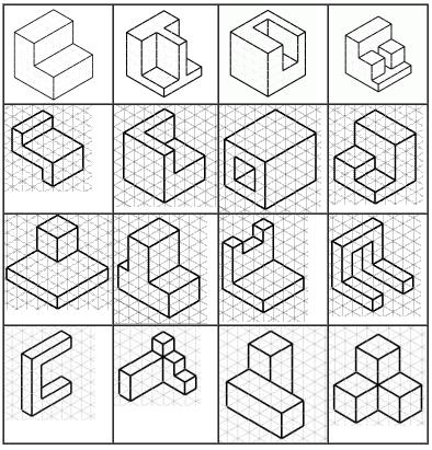Aula de tecnolog as vistas y perspectivas en ra l for Dibujar un mueble en 3d