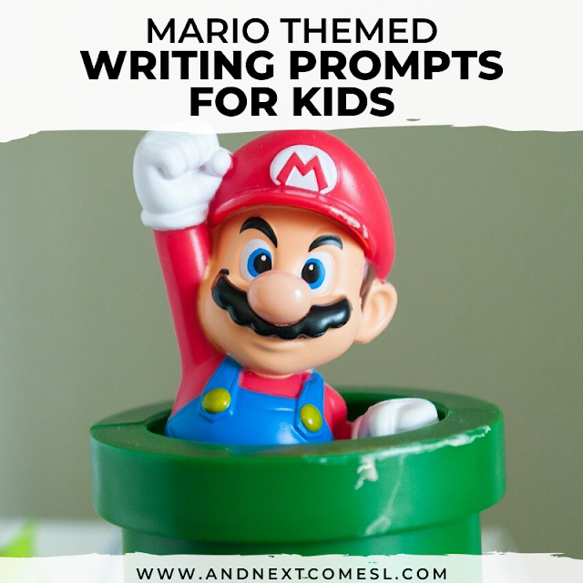 Free printable writing prompts for kids that are Mario themed