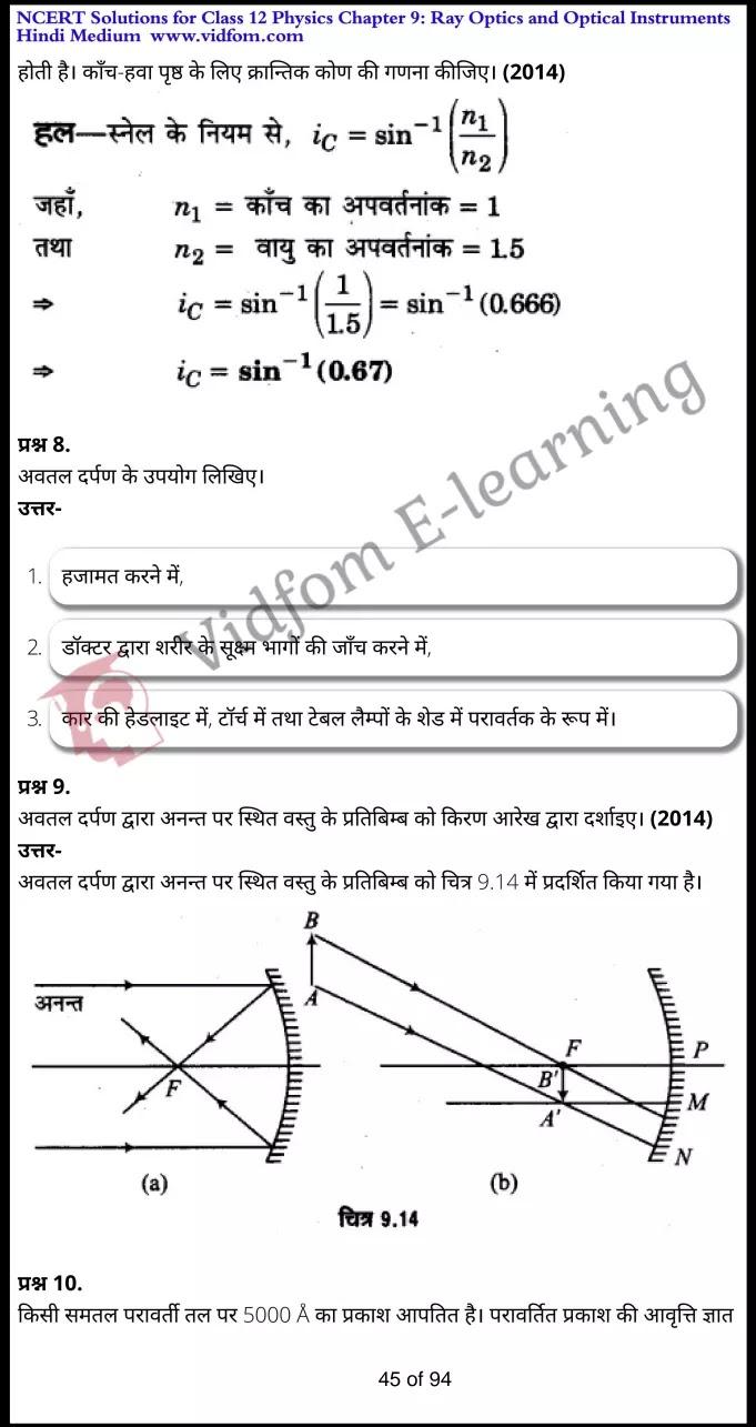 class 12 physics chapter 9 light hindi medium 45