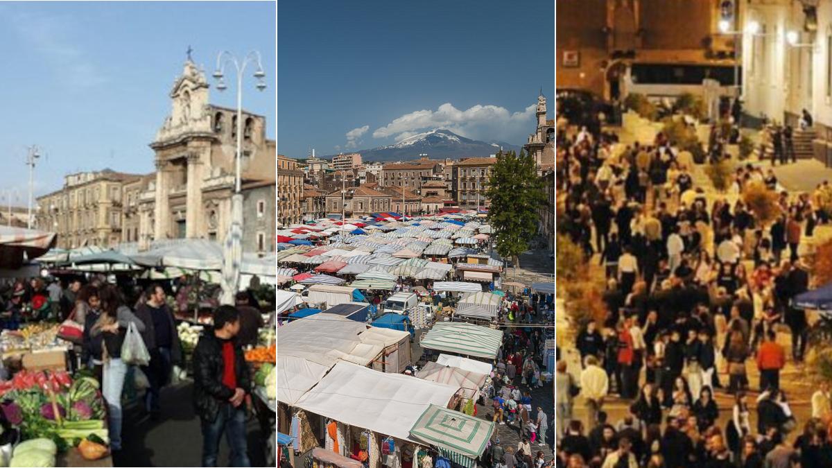 Raccolta differenziata porta a porta centro Catania fiera movida catanese Fera 'o Luni