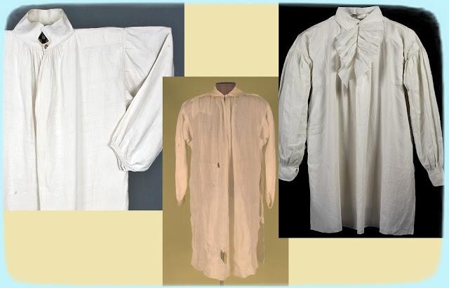 мужские рубахи прошлых веков