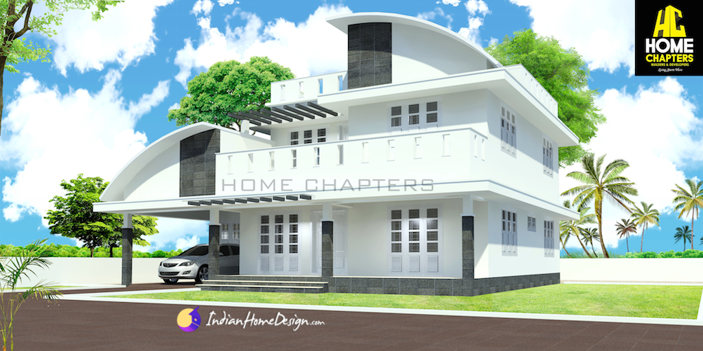 2500 sqft  4 bedroom Modern Contemporary Indian Home Design by Home Chapters