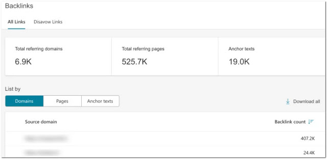 Backlinks-Bing-Webmaster-Tool