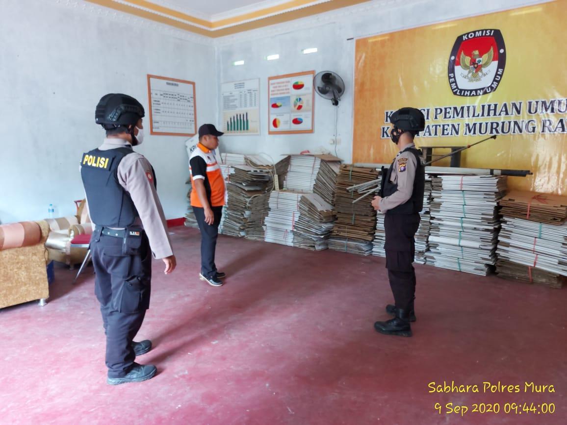 Jelang Pilkada 2020, Satsabhara Polres Mura Intensif Giatkan Patroli Di Kantor KPU dan Bawaslu