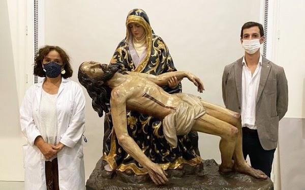 El IAPH restaura a la Virgen de las Angustias de Alanís