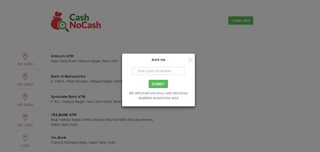 CashNoCash alert box