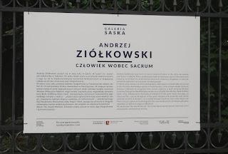 Andrzej Ziółkowski - Człowiek wobec sacrum wystawa Centrum Spotkania Kultur