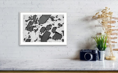 A Recently Sold Framed print of a Minimalist Photograph titled Paint Decay