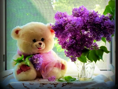cute-teddy-day-beautiful-image-with-purple-flowers-2017