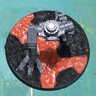 Adeptus Titanicus Warhound Titan Base WIP
