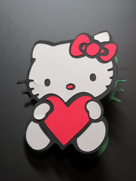 'est La-vie Design Unltd. Llc Kitty Heart Card