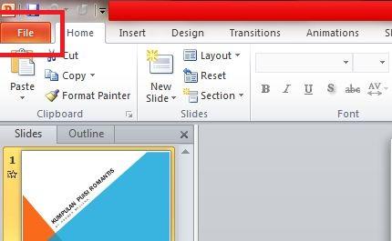 Klik opsi File pada pojok kiri atas.